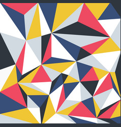 Colorful geometric pattern trendy vibrant vector