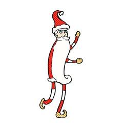 Comic cartoon skinny santa vector