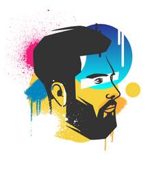 creative concepts of a face vector image