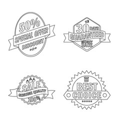Design emblem and badge icon set of vector