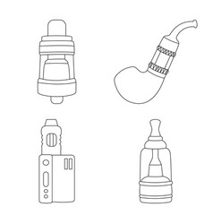 Design nicotine and filter symbol vector