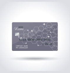 Detailed abstract glossy credit card concept vector