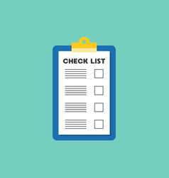 document on clipboard filling checklist flat vector image