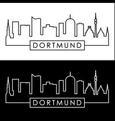 dortmund skyline linear style editable file vector image