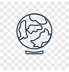 earth globe concept linear icon isolated on vector image