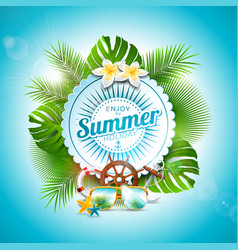 Enjoy the summer holiday typographic vector