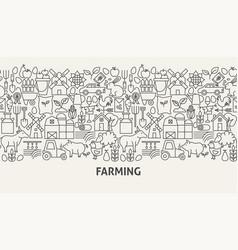 farming banner concept vector image