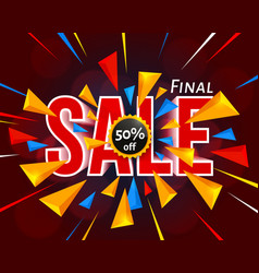Final sale banner with triangle vector