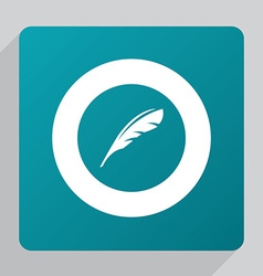 Flat feather icon vector