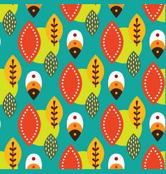 Folk mexican seamless pattern vector
