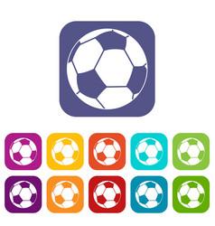 football ball icons set flat vector image