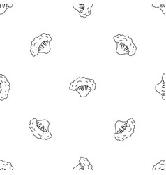 Fresh broccoli pattern seamless vector
