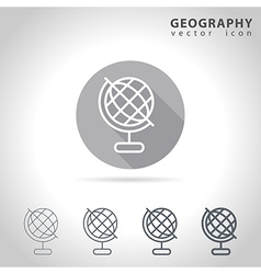 Geography outline icon vector image