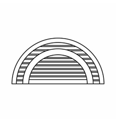 Hangar icon outline style vector