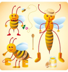 Happy bees vector