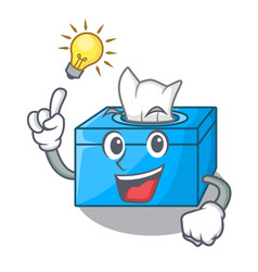 Have an idea tissue box isolated on the mascot vector