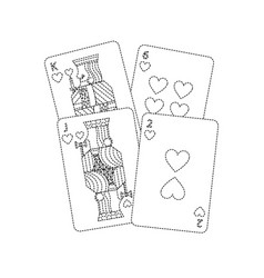 Hearts suit french playing cards icon image vector