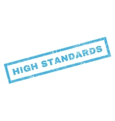 High Standards Rubber Stamp vector image