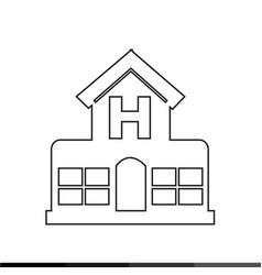 hospital icon design vector image