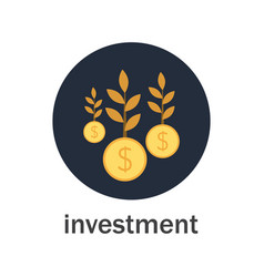 investment with money tree vector image