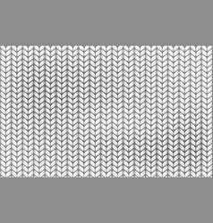 knitting realistic texture seamless pattern white vector image