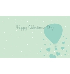 Landscape air balloon with love valentine vector image