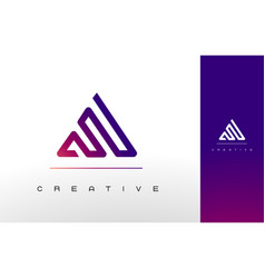 letter a monogram logo design vector image
