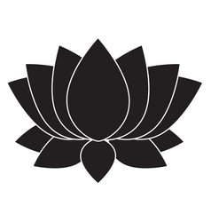 Lotus flower blosson icon on white background vector