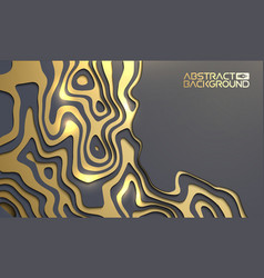 luxury background for presentation gold on black vector image