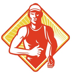 marathon runner icon vector image