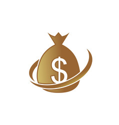 moneybags with dollar signs icon investme vector image