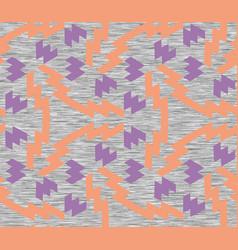 Neon geometric gray marl heather seamless pattern vector