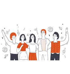 online party celebration friendship social vector image