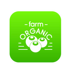 organic farm icon green vector image