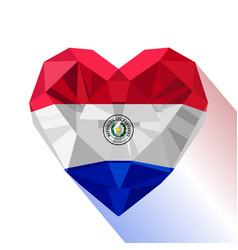 Paraguayan heart flag republic of paraguay vector