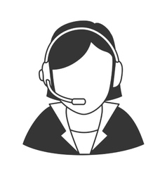 Person operator headset vector