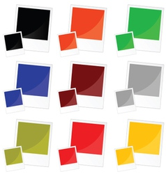 photo frame in color vector image