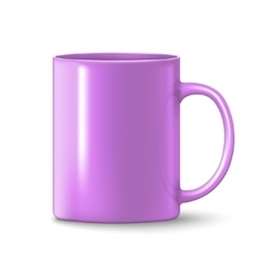 Photorealistic pink cup vector