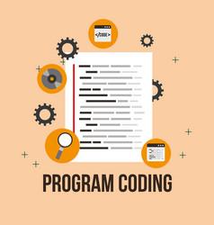 program coding website vector image