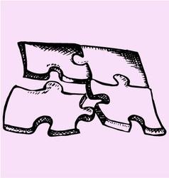 Puzzle 4 parts vector image