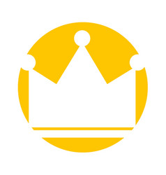 Queen crown isolated icon vector