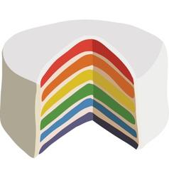 Rainbow cake vector