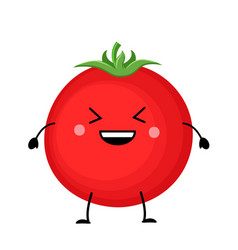 red tomato in flat styl vector image