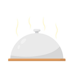 restaurant cloche on plate close vector image