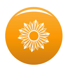 Ripe sunflower icon orange vector