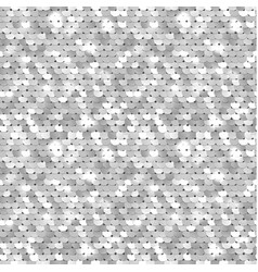 seamless silver texture fabric with sequins vector image