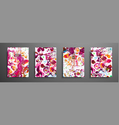 set of colorful paint design templates for vector image