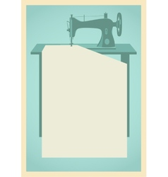 Sewing machine background vector image