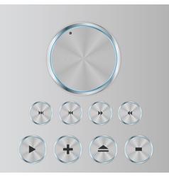 Shine Glossy Computer Icon Set vector image