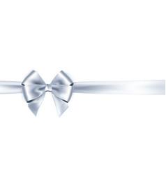 Shiny satin ribbon on white background bow vector